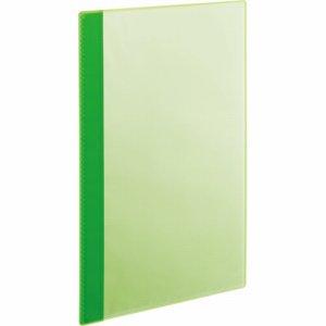 RCBA4-10G 角丸薄型クリアブック A4タテ 10ポケット グリーン 1セット50冊 汎用品