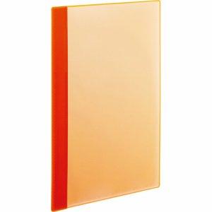 RCBA4-10O 角丸薄型クリアブック A4タテ 10ポケット オレンジ 1セット50冊 汎用品