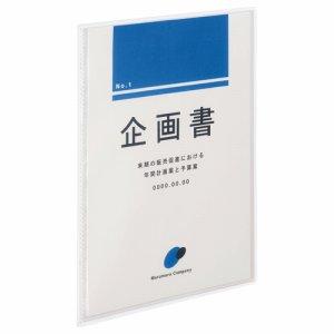 TKCA4-10C 高透明ポケットクリアブック A4タテ 10ポケット 背幅3mm クリア 1セット20冊 汎用品