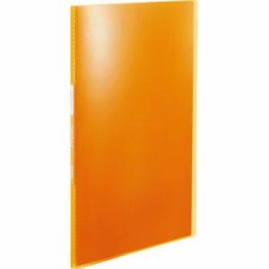 KINGJIM TH184TSPHO シンプリーズ クリアーファイル(透明) A4タテ 10ポケット 背幅10mm オレンジ