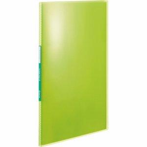 KINGJIM TH184TSPHG シンプリーズ クリアーファイル(透明) A4タテ 10ポケット 背幅10mm 黄緑
