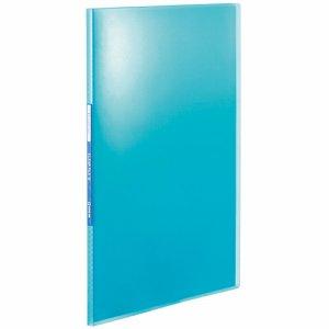 KINGJIM TH184TSPHB シンプリーズ クリアーファイル(透明) A4タテ 10ポケット 背幅10mm 青