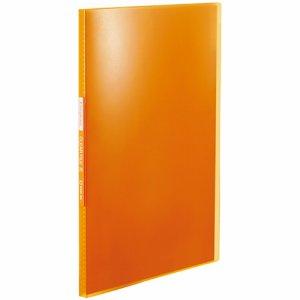 KINGJIM TH184TSPO シンプリーズ クリアーファイル(透明) A4タテ 20ポケット 背幅12mm オレンジ