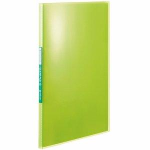 KINGJIM TH184TSPG シンプリーズ クリアーファイル(透明) A4タテ 20ポケット 背幅12mm 黄緑