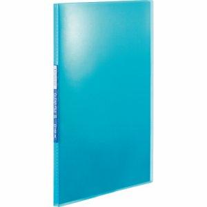 KINGJIM TH184TSPB シンプリーズ クリアーファイル(透明) A4タテ 20ポケット 背幅12mm 青