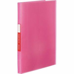 KINGJIM TH184TSPWP シンプリーズ クリアーファイル(透明) A4タテ 40ポケット 背幅22mm ピンク
