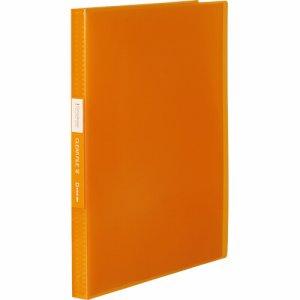 KINGJIM TH184TSPWO シンプリーズ クリアーファイル(透明) A4タテ 40ポケット 背幅22mm オレンジ