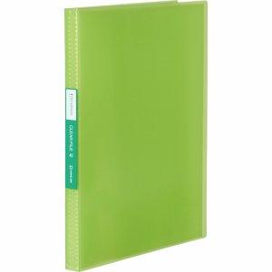 KINGJIM TH184TSPWG シンプリーズ クリアーファイル(透明) A4タテ 40ポケット 背幅22mm 黄緑