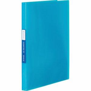 KINGJIM TH184TSPWB シンプリーズ クリアーファイル(透明) A4タテ 40ポケット 背幅22mm 青