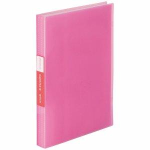 KINGJIM TH184TSP3P シンプリーズ クリアーファイル(透明) A4タテ 60ポケット 背幅32mm ピンク