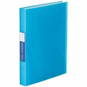 KINGJIM TH184TSP3B シンプリーズ クリアーファイル(透明) A4タテ 60ポケット 背幅32mm 青