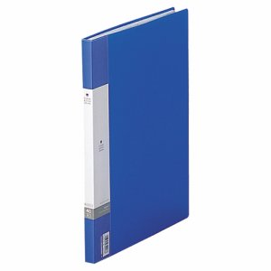 LIHIT G3401-8 リクエスト クリヤーブック サイドベンツ A4タテ見開きA3 40ポケット20シート 背幅16mm 青
