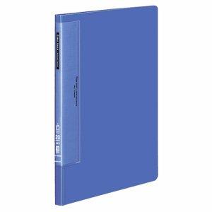 コクヨ ラ-T560B クリヤーブック(ウェーブカットポケット・固定式) A4タテ 20ポケット 背幅17mm 青