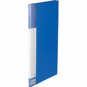 CFDA4-10B 台紙入クリヤーファイル A4タテ 10ポケット 背幅11mm ブルー 汎用品