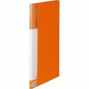 CFDA4-10YR 台紙入クリヤーファイル A4タテ 10ポケット 背幅11mm オレンジ 汎用品