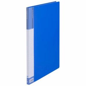 CFDB4-20B 台紙入クリヤーファイル B4タテ 20ポケット 背幅15mm ブルー 10冊セット 汎用品