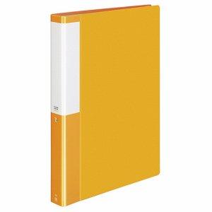 コクヨ P3ラ-L60NYR クリヤーブック(POSITY) 固定式 A4タテ 60ポケット 背幅35mm オレンジ 4冊セット