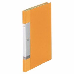 LIHIT G3201-5 リクエスト クリヤーブック A4タテ 20ポケット 背幅16mm 黄