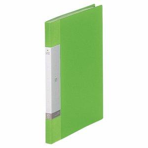 LIHIT G3201-6 リクエスト クリヤーブック A4タテ 20ポケット 背幅16mm 黄緑
