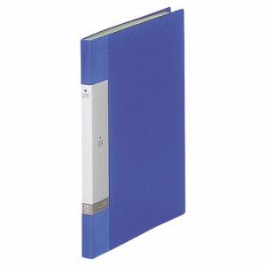 LIHIT G3201-8 リクエスト クリヤーブック A4タテ 20ポケット 背幅16mm 青