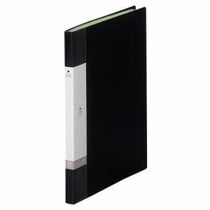 LIHIT G3201-24 リクエスト クリヤーブック A4タテ 20ポケット 背幅16mm 黒