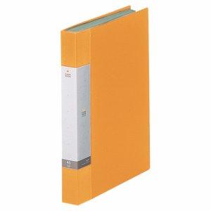 LIHIT G3202-5 リクエスト クリヤーブック A4タテ 40ポケット 背幅32mm 黄