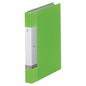 LIHIT G3202-6 リクエスト クリヤーブック A4タテ 40ポケット 背幅32mm 黄緑