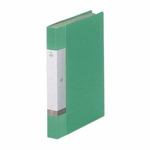 LIHIT G3202-7 リクエスト クリヤーブック A4タテ 40ポケット 背幅32mm 緑