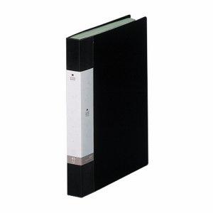 LIHIT G3202-24 リクエスト クリヤーブック A4タテ 40ポケット 背幅32mm 黒