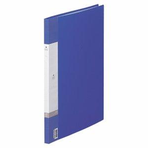 LIHIT G3211-8 リクエスト クリヤーブック B4タテ 20ポケット 背幅16mm 青