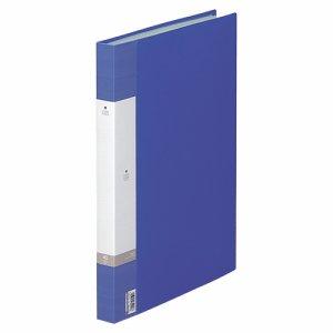 LIHIT G3212-8 リクエスト クリヤーブック B4タテ 40ポケット 背幅32mm 青