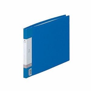 LIHIT G3220-8 リクエスト クリヤーブック A4ヨコ 20ポケット 背幅16mm 青