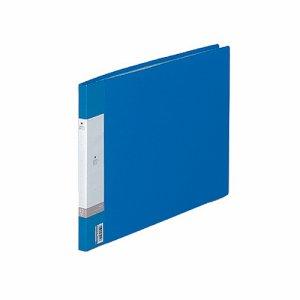 LIHIT G3222-8 リクエスト クリヤーブック B4ヨコ 20ポケット 背幅16mm 青
