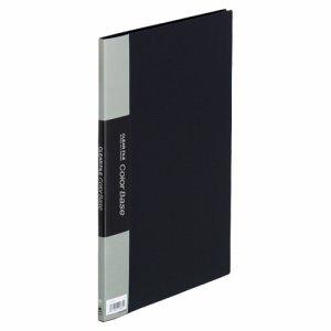 KINGJIM 132CHクロ クリアーファイル カラーベースハンディ A4タテ 10ポケット 背幅10mm 黒 132CH