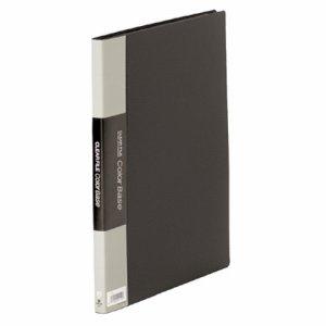 KINGJIM 132Cクロ クリアーファイル カラーベース A4タテ 20ポケット 背幅14mm 黒 132C