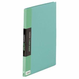 KINGJIM 132Cミト クリアーファイル カラーベース A4タテ 20ポケット 背幅14mm 緑 132C