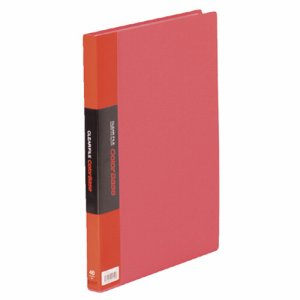 KINGJIM 132CWアカ クリアーファイル カラーベースW A4タテ 40ポケット 背幅24mm 赤 132CW