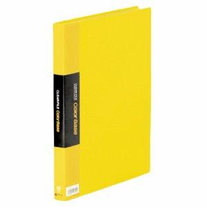 KINGJIM 132CWキイ クリアーファイル カラーベースW A4タテ 40ポケット 背幅24mm 黄 132CW