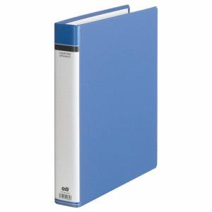 TCFHW-A4-B 貼り表紙クリヤーファイル A4タテ 30穴 50ポケット付属 背幅51mm 青 6冊セット 汎用品