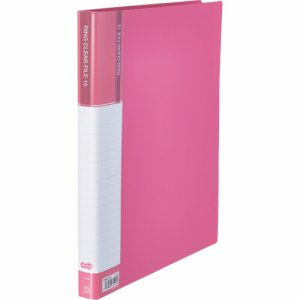 CFSA4-15P 差替式PPクリヤーファイル A4タテ 30穴 15ポケット ピンク 10冊セット 汎用品