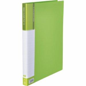 CFSA4-15LG 差替式PPクリヤーファイル A4タテ 30穴 15ポケット ライトグリーン 10冊セット 汎用品