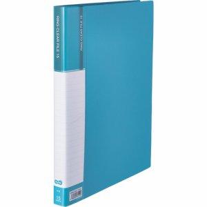 CFSA4-15LB 差替式PPクリヤーファイル A4タテ 30穴 15ポケット ライトブルー 10冊セット 汎用品
