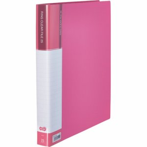 CFSA4-25P 差替式PPクリヤーファイル A4タテ 30穴 25ポケット ピンク 汎用品