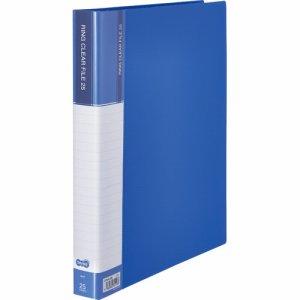 CFSA4-25B 差替式PPクリヤーファイル A4タテ 30穴 25ポケット ブルー 汎用品