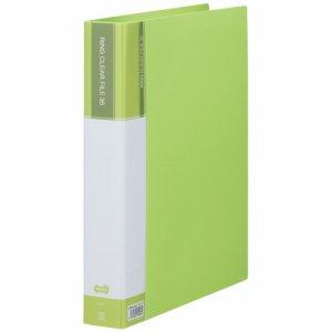CFSA4-35LG 差替式PPクリヤーファイル A4タテ 30穴 35ポケット ライトグリーン 10冊セット 汎用品