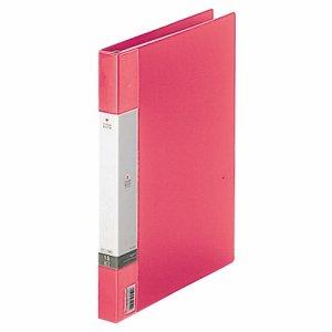 LIHIT G3801-3 リクエスト クリヤーブック(ポケット交換タイプ) A4タテ 30穴 15ポケット付属 背幅25mm 赤