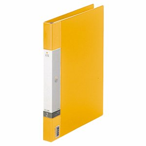 LIHIT G3801-5 リクエスト クリヤーブック(ポケット交換タイプ) A4タテ 30穴 15ポケット付属 背幅25mm 黄