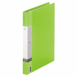 LIHIT G3801-6 リクエスト クリヤーブック ポケット交換タイプ A4縦 30穴 15ポケット背幅25mm 黄緑
