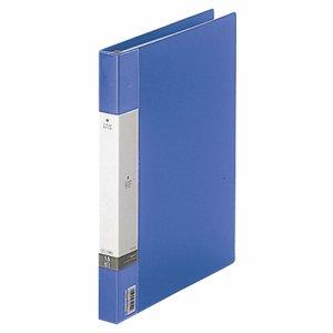 LIHIT G3801-8 リクエスト クリヤーブック(ポケット交換タイプ) A4タテ 30穴 15ポケット付属 背幅25mm 青
