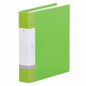 LIHIT G3806-6 リクエスト クリヤーブック ポケット交換タイプ A4縦 30穴 45ポケット 背幅55mm 黄緑